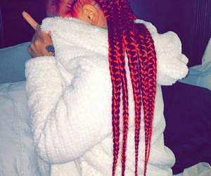 braid, red, and red hair image