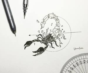 scorpion, tattoo, and art image