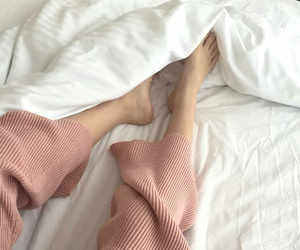 aesthetic, bed, and legs image