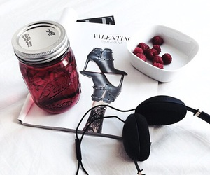 magazine, red, and drink image