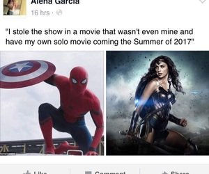captain america, Marvel, and spider-man image
