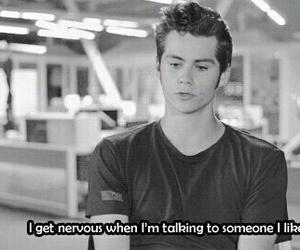 dylan o'brien, nervous, and teen wolf image