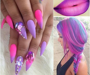 nails, hair, and lips image