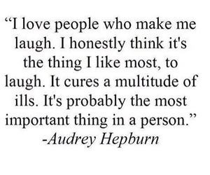 quotes, laugh, and audrey hepburn image