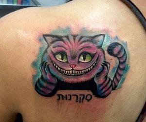 alice, cat, and tatto image