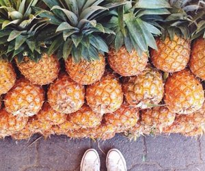 converses, yellow, and pineapples image
