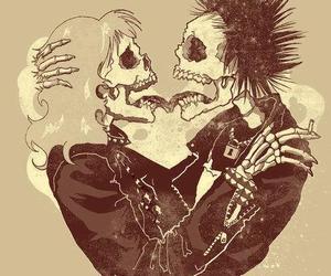 love, skull, and punk image