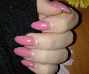 pink, nials, and love image