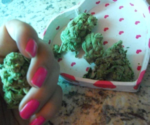 one love, weed, and love image