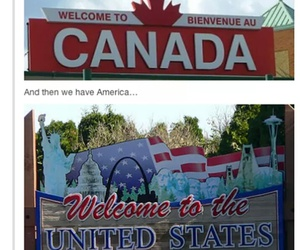 canada and funny image