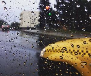 rain, taxi, and redandgreen image