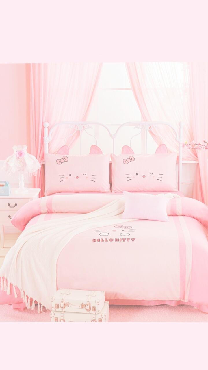Hello Kitty Art Background Beautiful Beauty Colorful Design Fashion Hello Kitty Kawaii Pastel Pink Room Still Life Style Wallpapers We Heart It Pink Background Pastel Pink Pastel Color Korean Style Fashion Korean Wallpapers