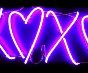 xoxo, purple, and neon image