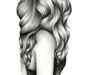 beautiful, girl, and drawing image
