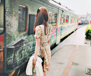 girl, train, and dress image