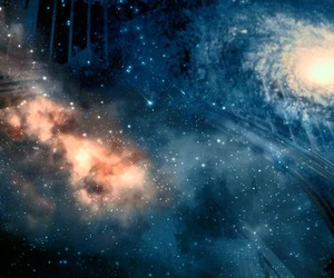 harry potter, hogwarts, and galaxy image