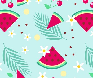 watermelon, pattern, and wallpaper image