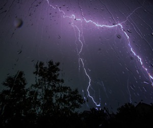 rain, grunge, and lightning image