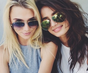 sunglasses, friends, and summer image