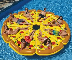 pizza, summer, and friends image