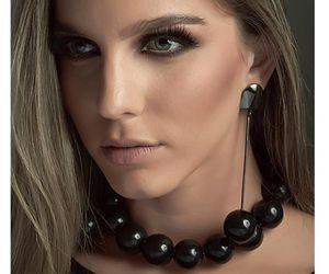 beads, blonde, and choker image