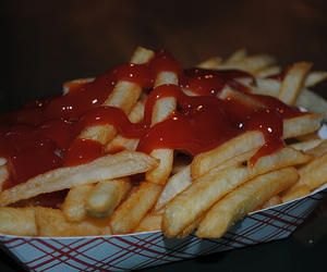 food, ketchup, and French Fries image