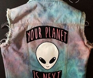 alien, grunge, and planet image