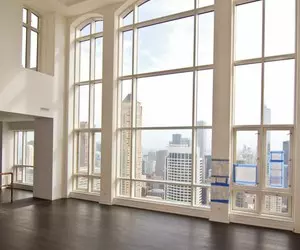 city, white, and interior image