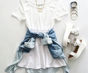 fashion, outfit, and white image