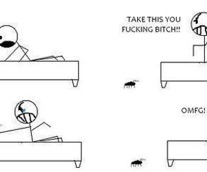 bug, funny, and lol image