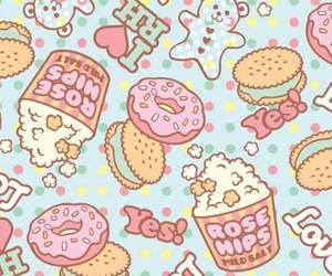 delicious, donuts, and one direction image