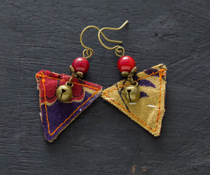 etsy, handmadejewelry, and recycled earrings image