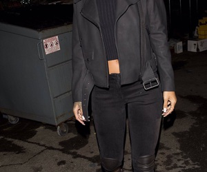 rihanna, outfit, and black image