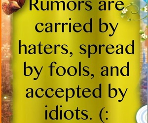 quotes, rumors, and fool image