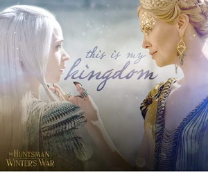 Charlize Theron, Emily Blunt, and the huntsman image