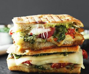 food, sandwich, and panini image