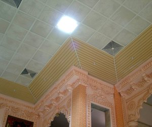 sun louvers, exterior elevation, and metal false ceiling image