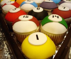 billiard, colours, and cupcakes image
