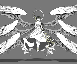 Angel Wings, Ilustration, and anime boy image
