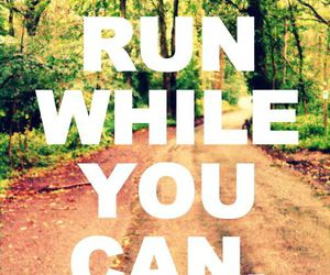 run, quote, and fitness image