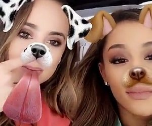 ariana grande, moonlightbae, and dog filter image