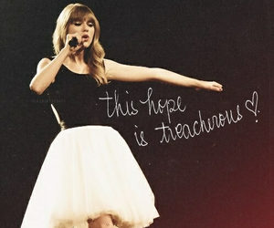 Taylor Swift, red tour, and treacherous image