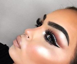 contour, eyelashes, and eyes image
