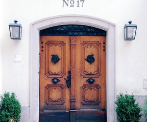 house, door, and vintage image