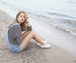 sea, fashion, and girl image