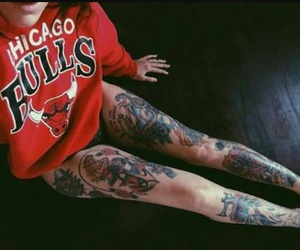 tattoo, bulls, and ink image