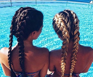braids, girl, and hairstyles image