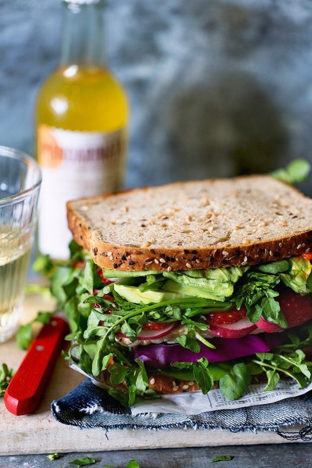 sandwich, food, and healthy image