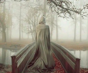 bridge, mist, and fantasy image