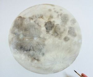 moon, art, and painting image